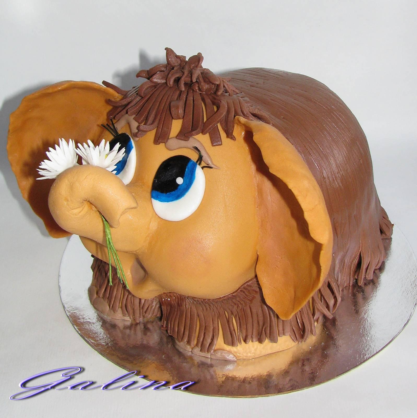 Как сделать торт с мамонтенком пошагово