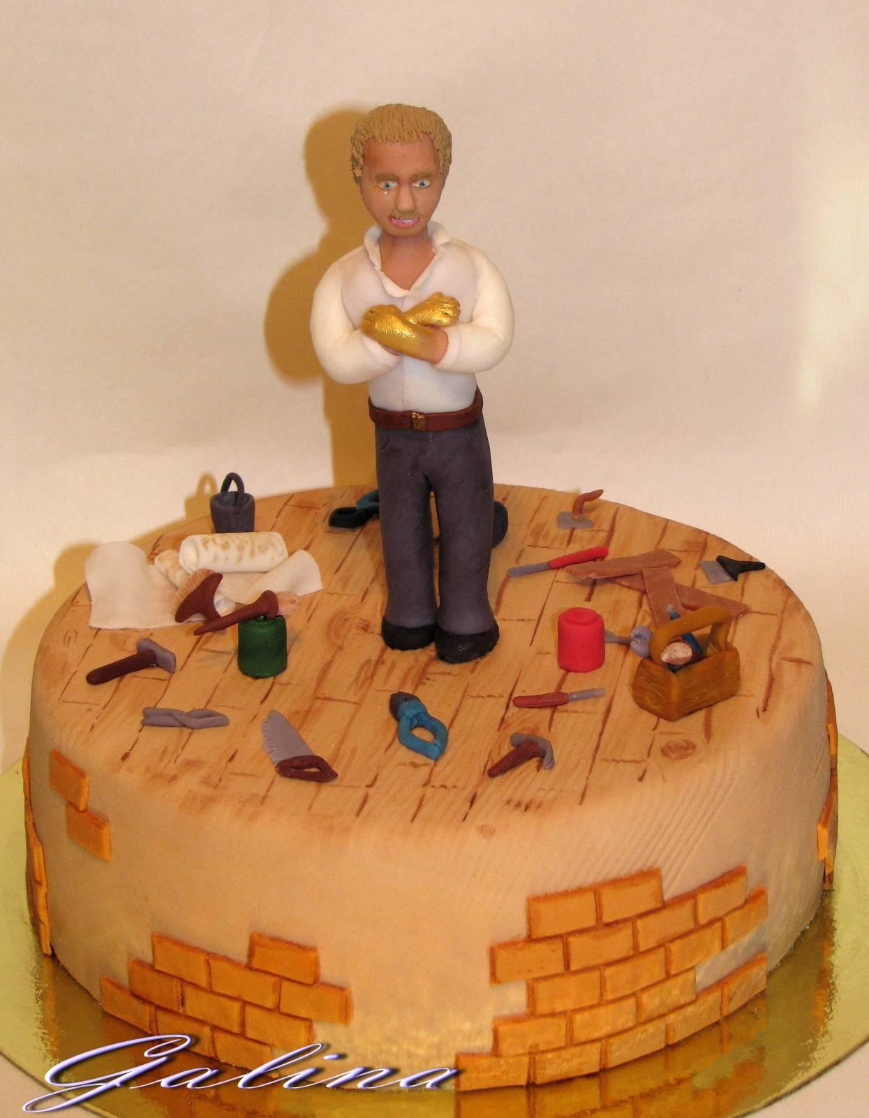 Торт для мужа из мастики фото своими руками